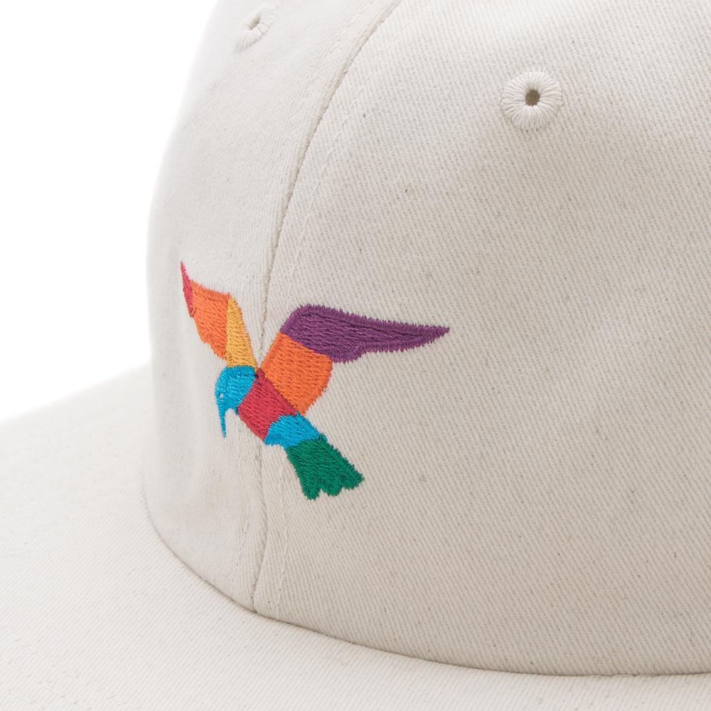 BY PARRA BIRD 6 PANEL HAT / NATURAL