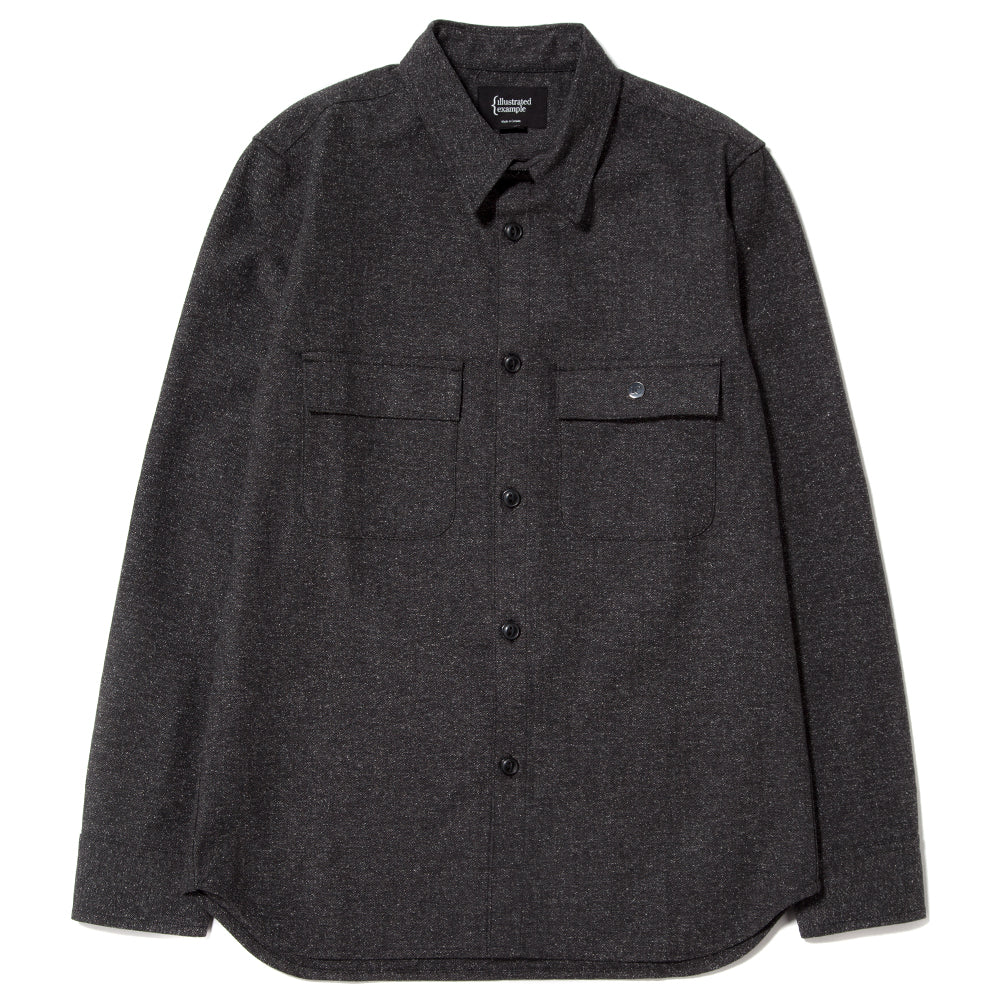 style code 4023HBF17BLK. {ie WORK SHIRT BLACK / CHARCOAL