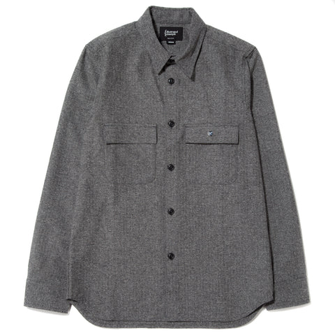 style code 4023HBF17GRY. {ie WORK SHIRT GREY / BLACK