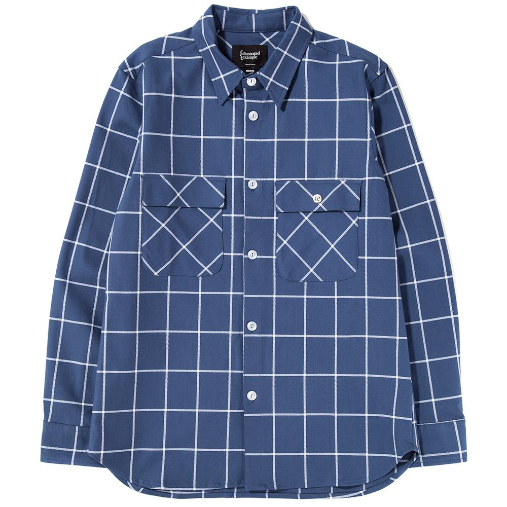 Style code 4023SS18BLU. {ie WORK SHIRT BLUE / WHITE CHECK