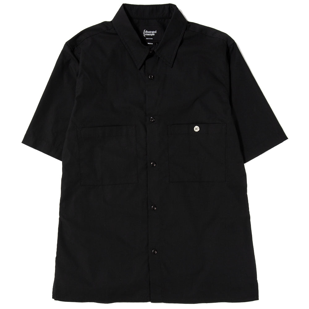{ie Short Sleeve Shirt / Black - Deadstock.ca