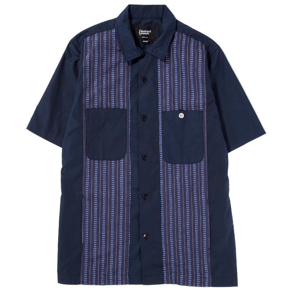Style code 4027SS18NVY. {ie CAMP SHIRT NAVY / NAVY