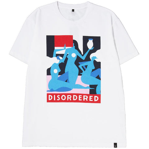 Style code 40600S18. BY PARRA DISORDERED T-SHIRT / WHITE