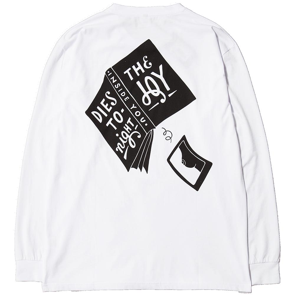Style code 40640S18.BY PARRA THE JOY INSIDE LONG SLEEVE T-SHIRT / WHITE