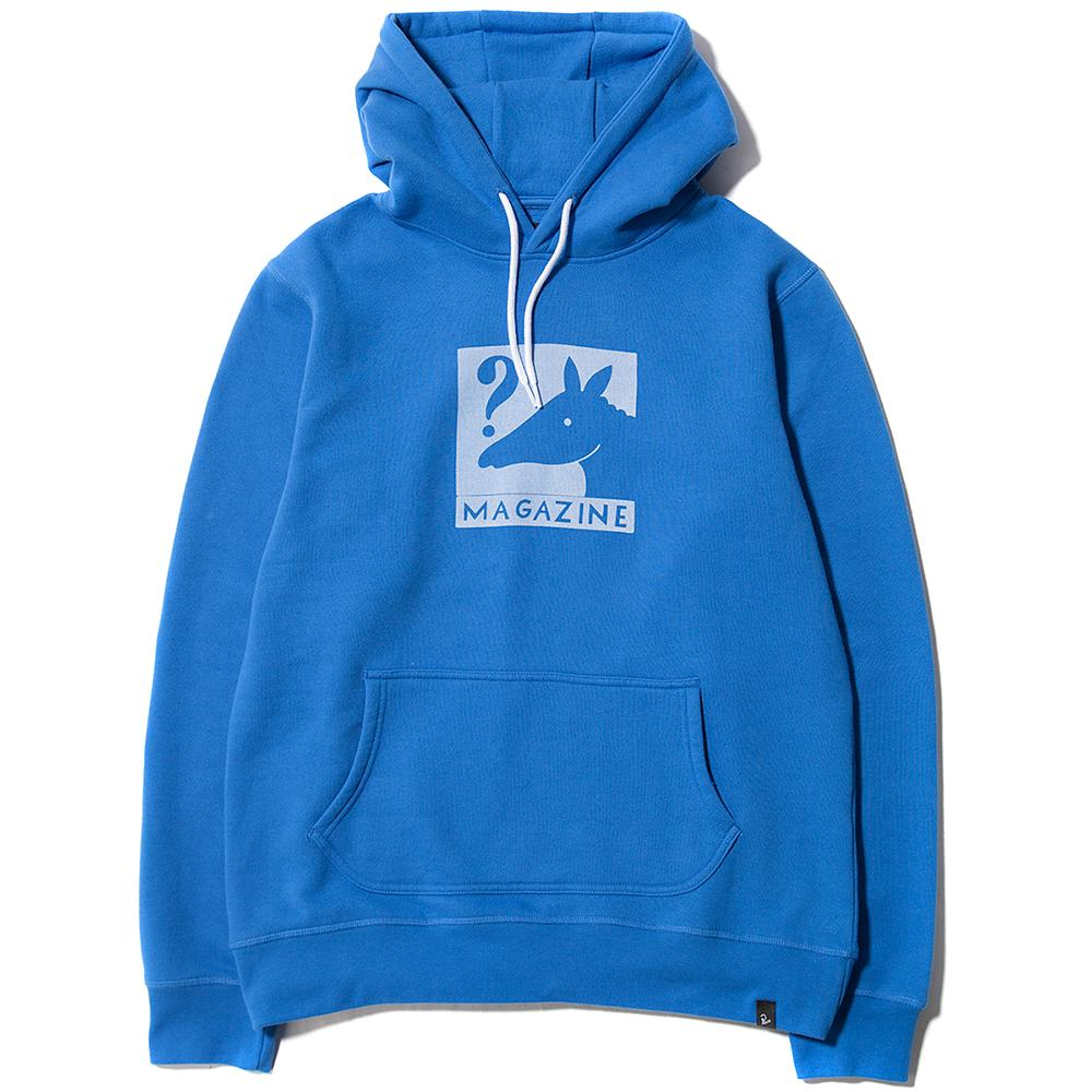 Style code 40650S18. BY PARRA HORSE MAGAZINE PULLOVER HOODIE / KOBALT BLUE