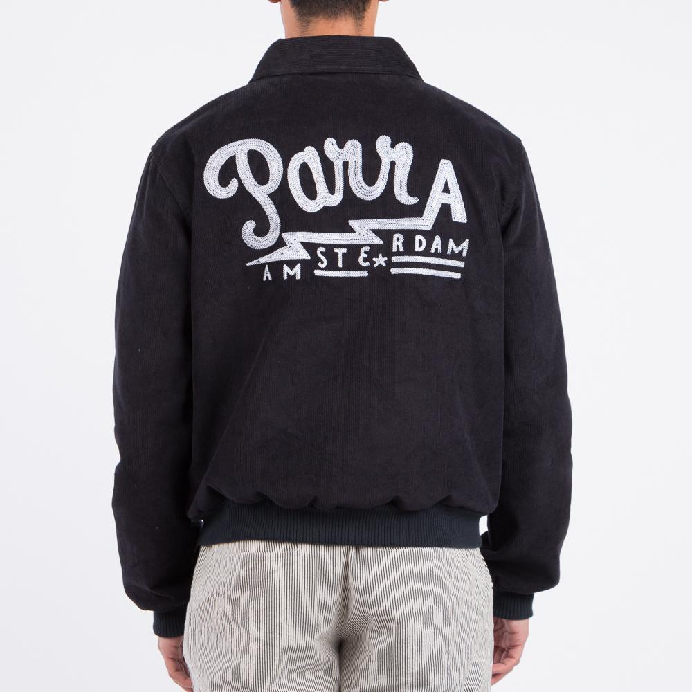Style code 40680S18. BY PARRA CORDUROY CLUB JACKET / NAVY BLUE