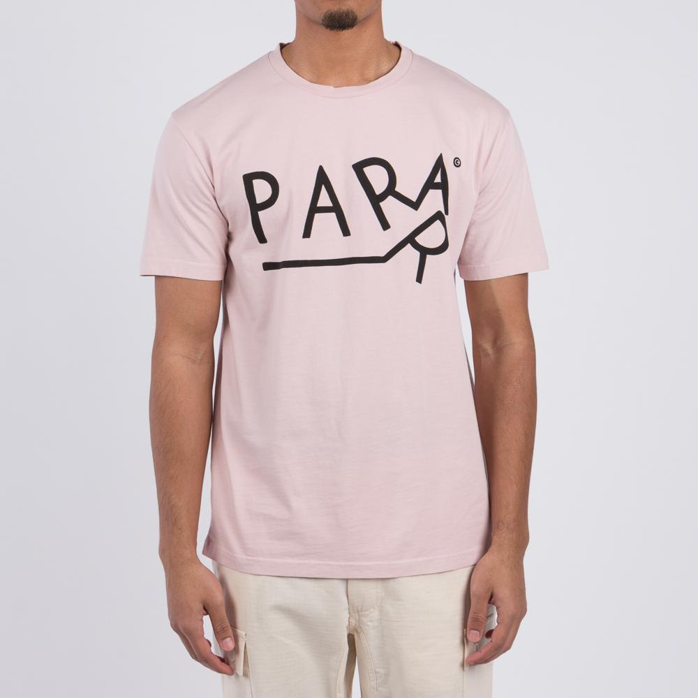 Style Code 40730s18. By Parra Dragging T-shirt Stonewashed Pink