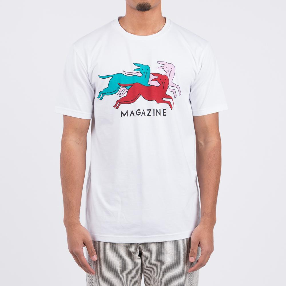 Style Code 40750s18. By Parra Dog Magazine T-Shirt White
