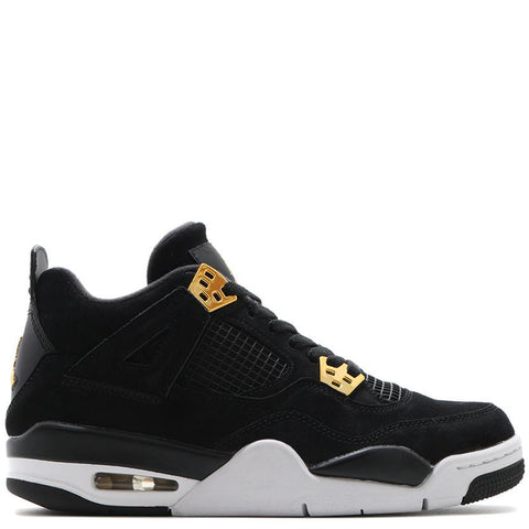 JORDAN 4 RETRO GS ROYALTY BLACK / METALLIC GOLD - 1