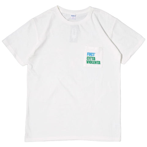 FUCT SSDD CITY OF VIOLENCE T-SHIRT / WHITE - 1