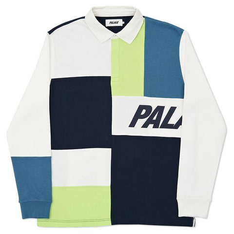 PALACE PATCHWORK RUGBY / WHITE - 1
