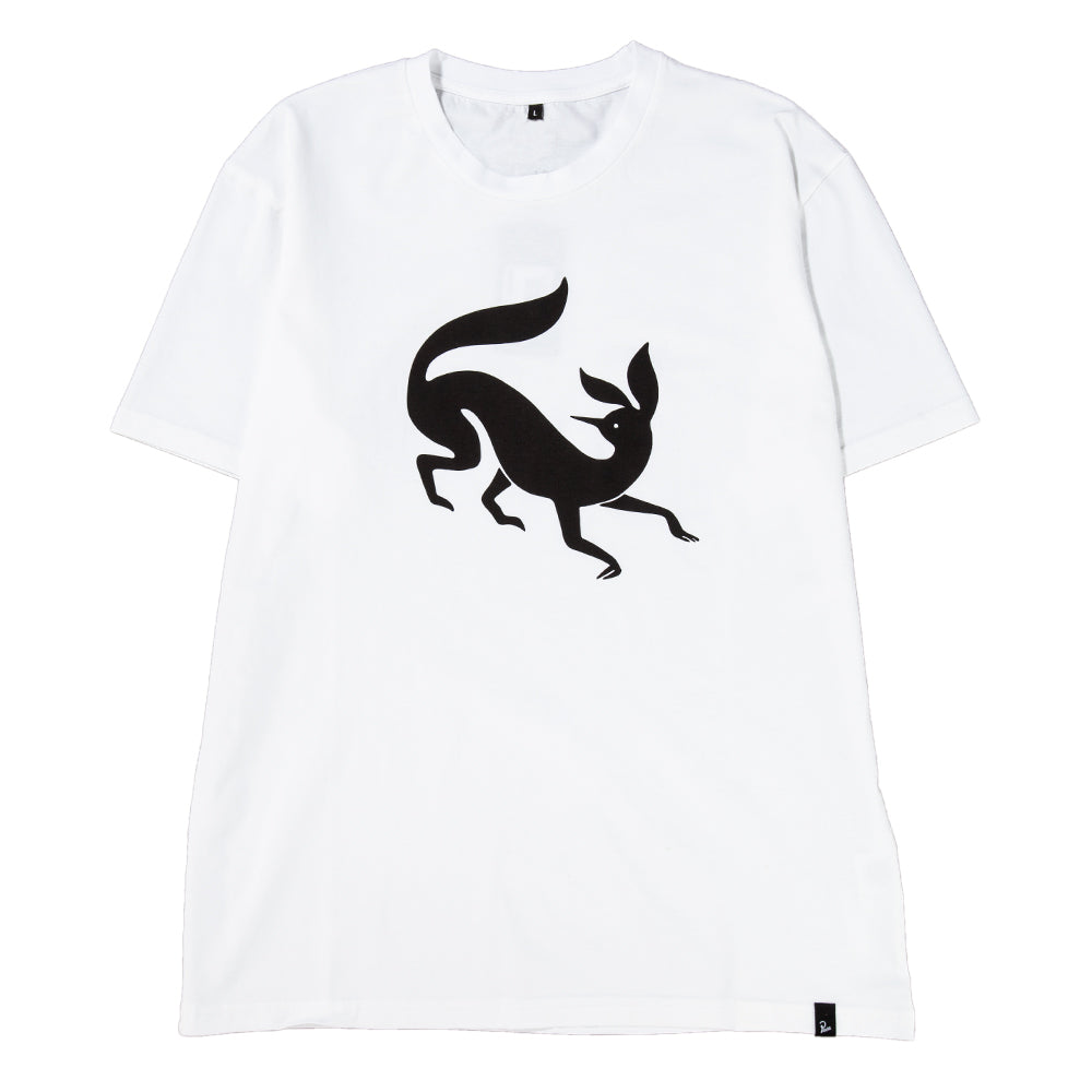 Style code 41620FW18. by Parra Confused Fox T-shirt / White