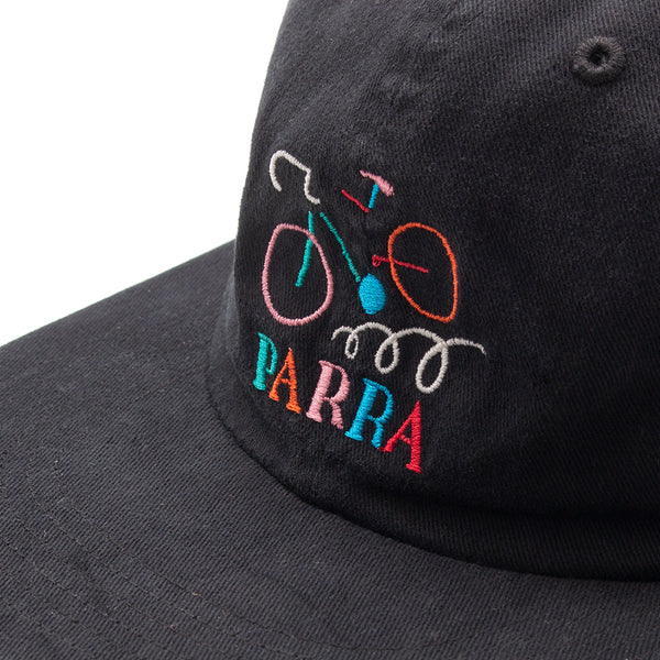 Style code 41670FW18. by Parra Broken Frame 6 Panel Hat / Black