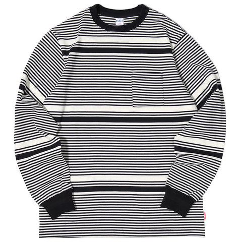 FUCT SSDD BORDER LONG SLEEVE T-SHIRT / BLACK - 1