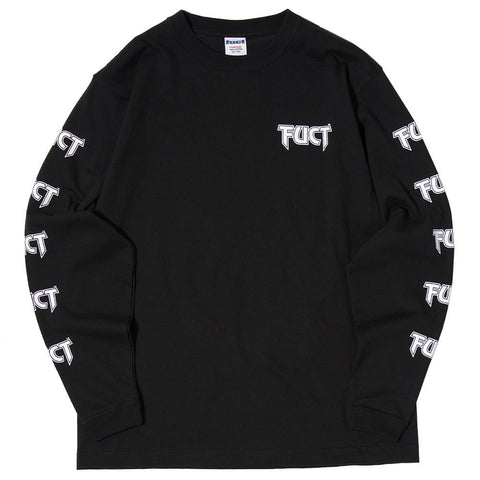 FUCT SSDD IT CAN'T HAPPEN LONG SLEEVE T-SHIRT / BLACK - 1