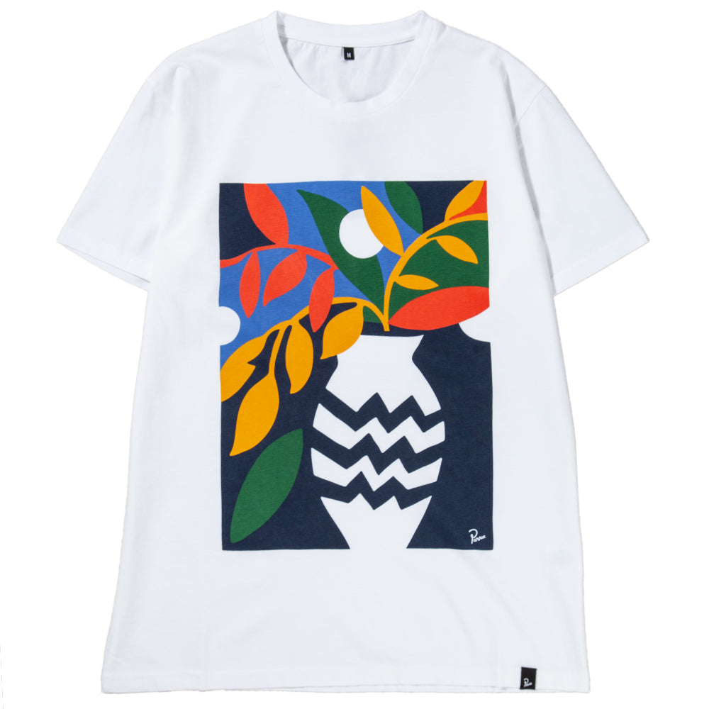 Style code 41860FW18. by Parra Still Life With Plant T-shirt / White