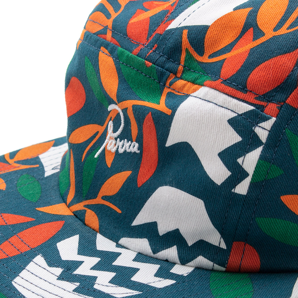 Style code 41940FW18. by Parra Still Life With Plant 5 Panel Volley Hat / Multi Ripstop Nylon