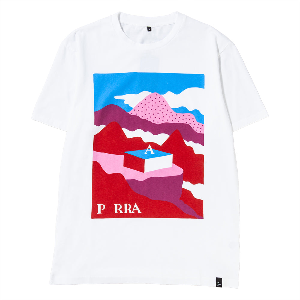 Style code 41950FW18. by Parra Lost City Box T-shirt / White