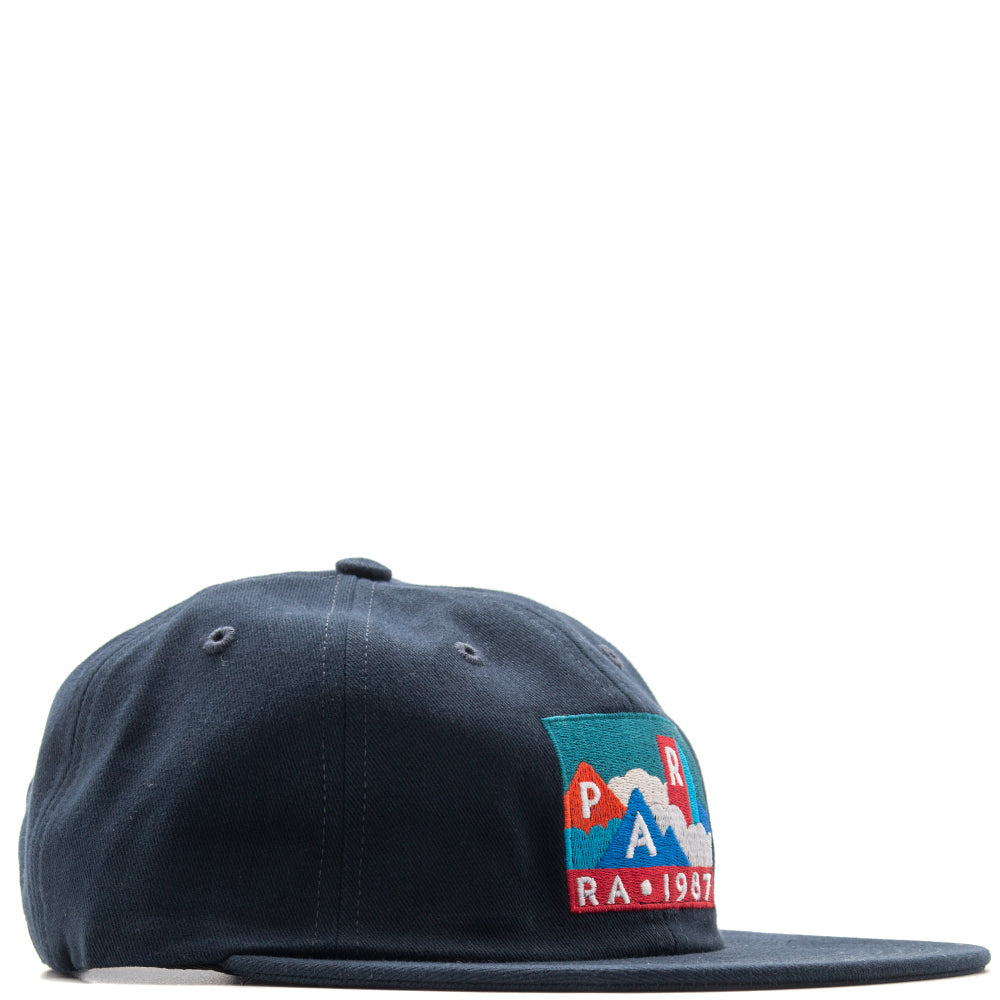 Style code 41980FW18. by Parra Mountains of 1987 6 Panel Hat / Navy Blue