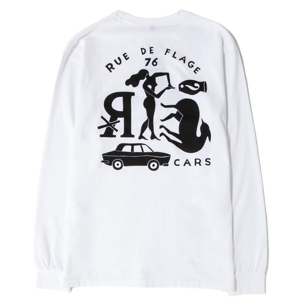42130S19 by Parra Gary's Street Long Sleeve T-shirt / White