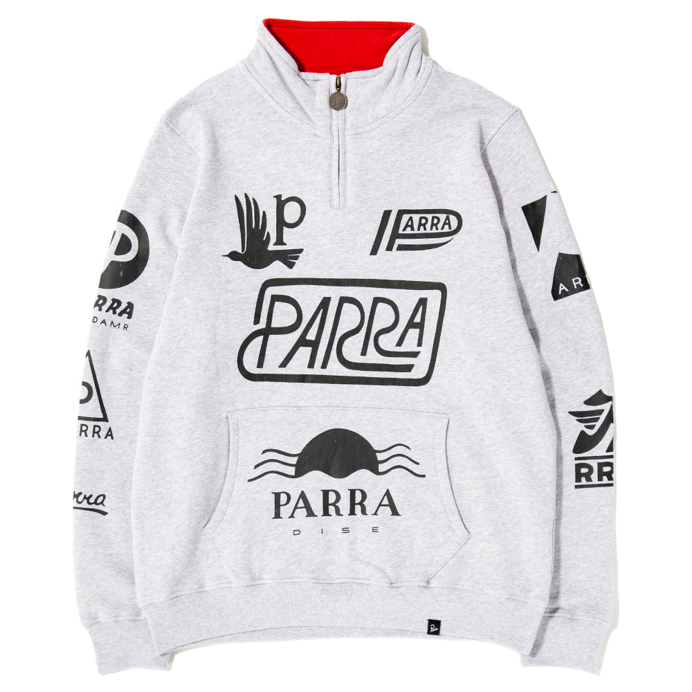 42410S19 by Parra Sponsored Quarter Zip Sweater / Ash Gre