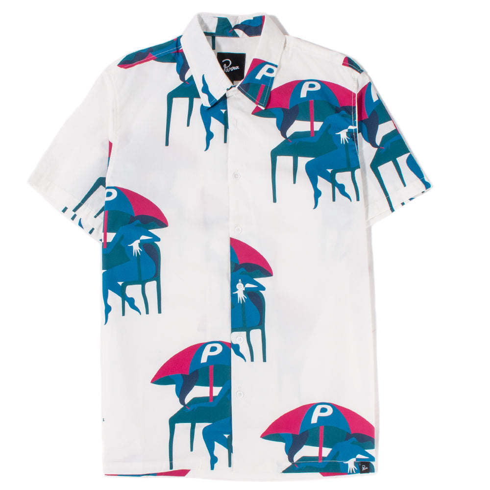 by Parra Monaco Camp Collar Shirt / Off White - Deadstock.ca