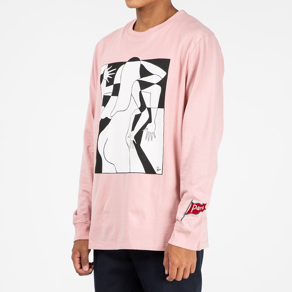 by Parra Artist Business Woman Long Sleeve T-shirt / Rose - Deadstock.ca