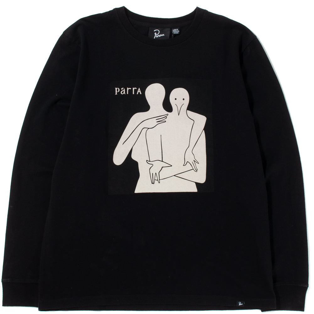 By Parra Plastic People Long Sleeve T-shirt / Black - Deadstock.ca