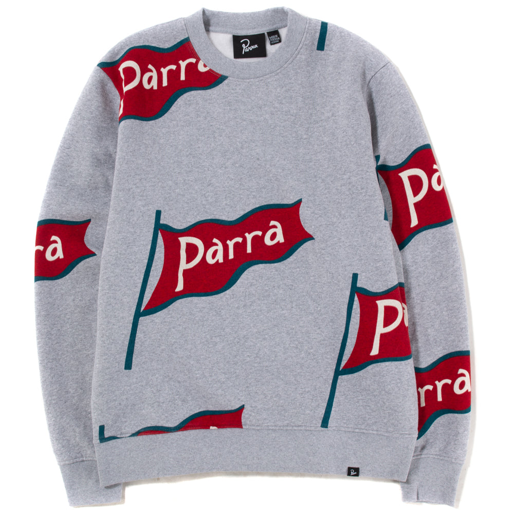 By Parra Flapping Flag Crewneck / Heather Grey - Deadstock.ca