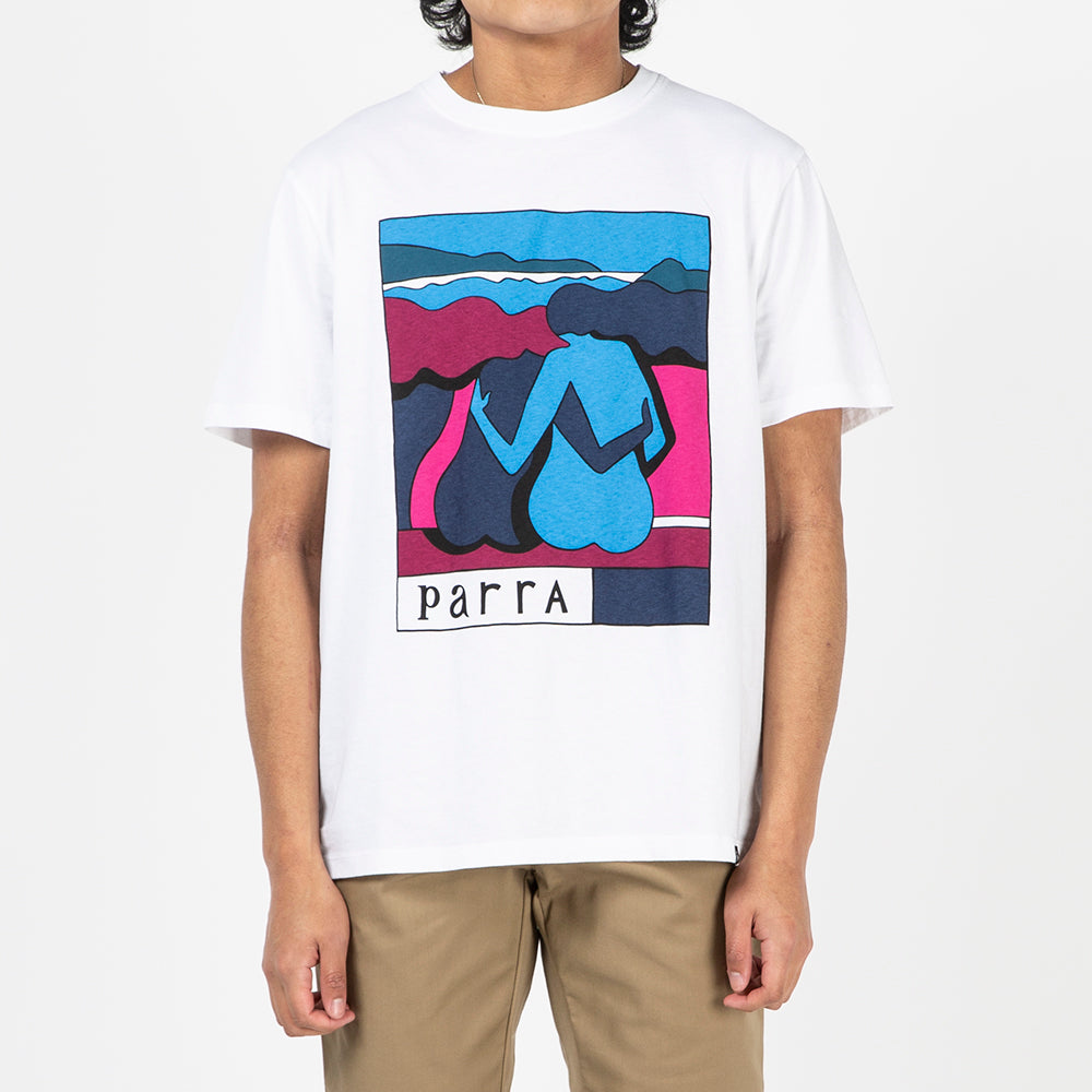 by Parra The Riverbench T-shirt / White