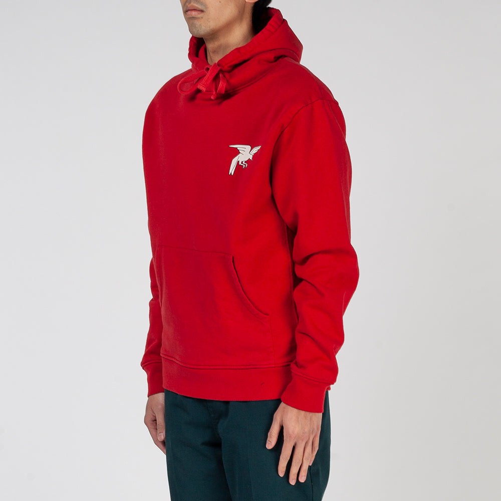 by Parra Wrapped Blanket Pullover Hoodie / Red