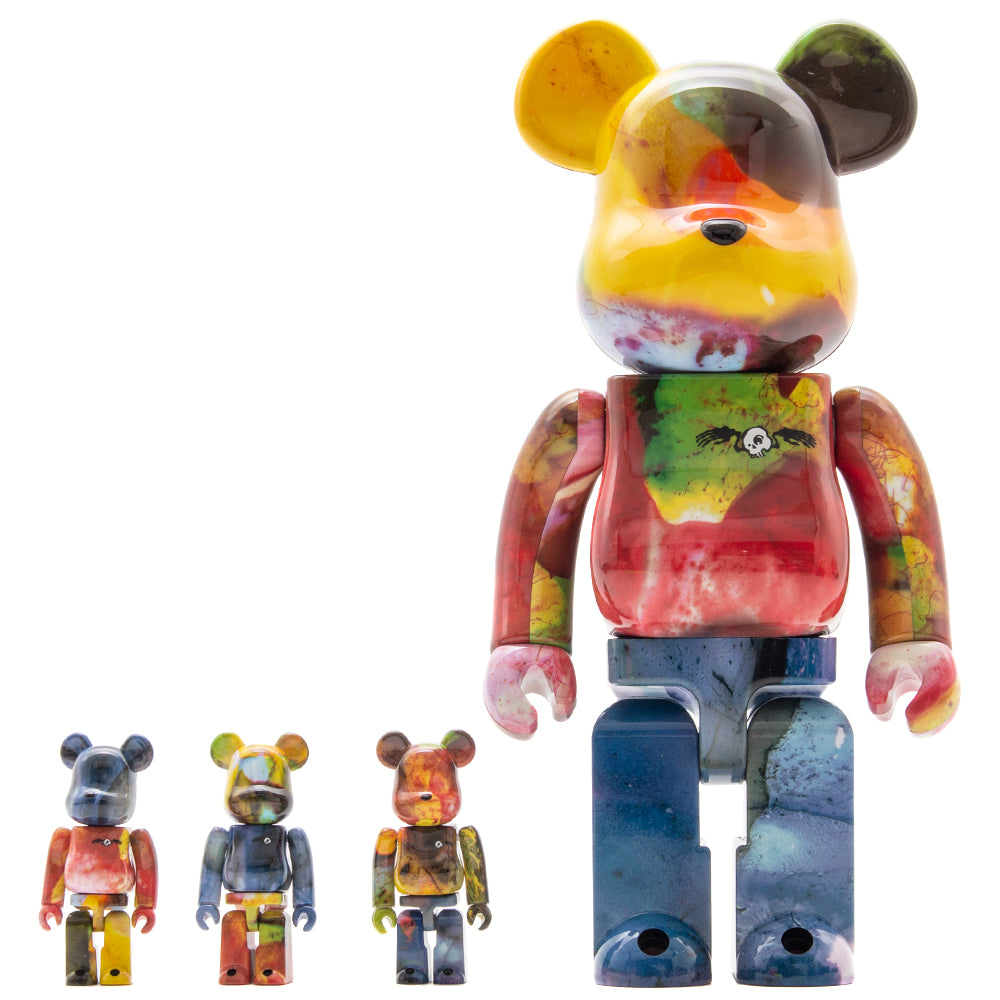 Style code 4530956574424. Medicom Toy BE@RBRICK Pushead 3 100% & 400% - 4 Piece Set