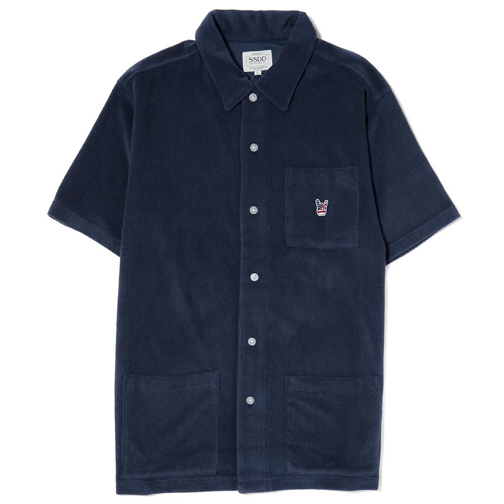 style code 48201NVY. FUCT SSDD FRENCH TERRY SS SHIRT / NAVY