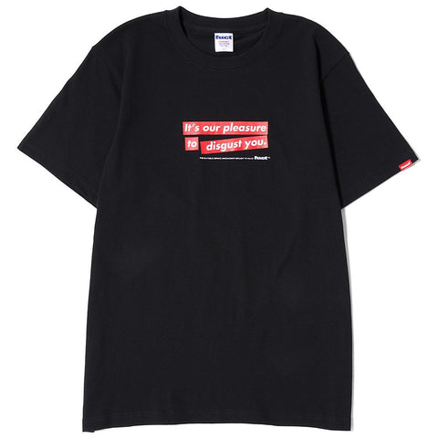 FUCT SSDD OUR PLEASURE T-SHIRT / BLACK