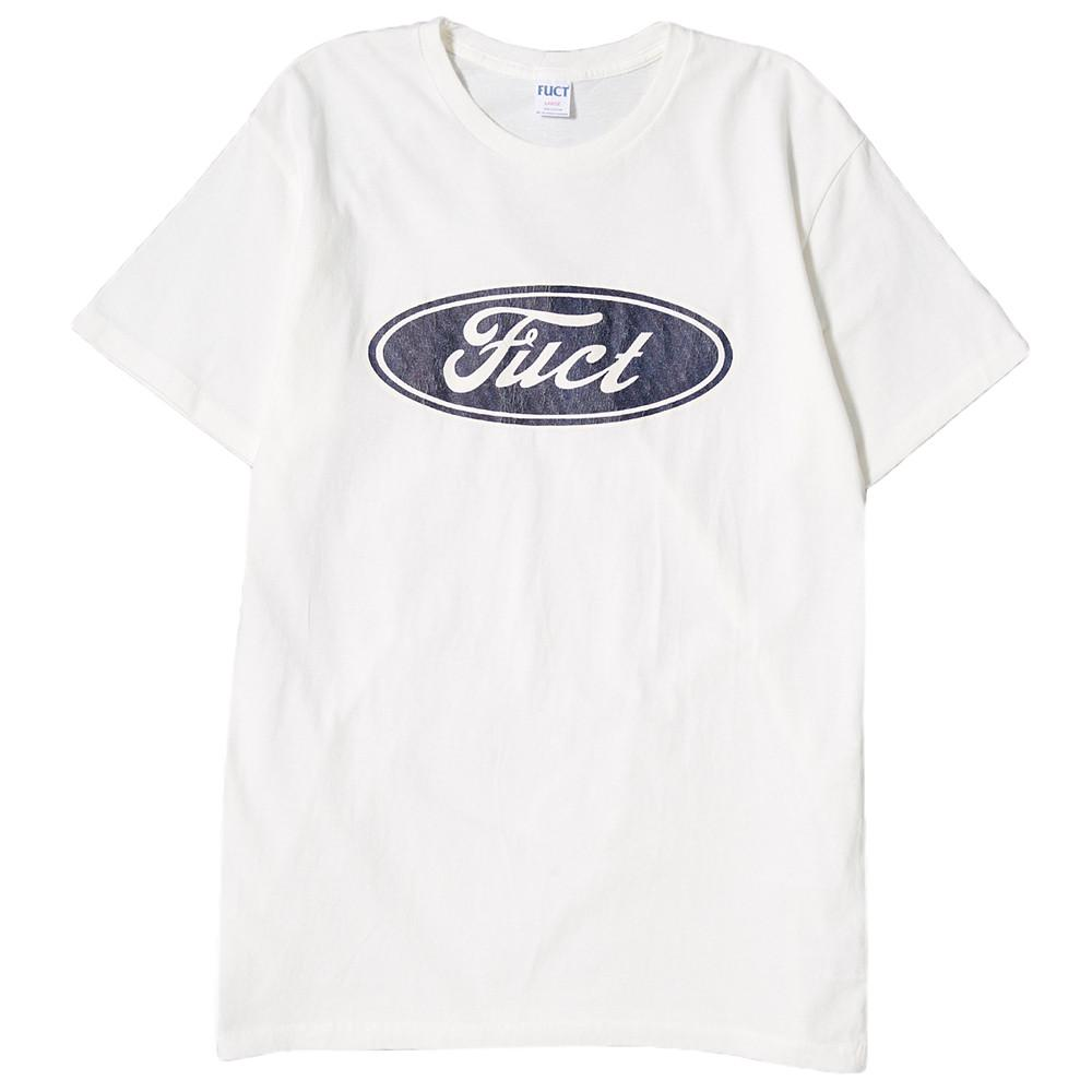 style code 48612WHT. FUCT SSDD F OVAL LOGO T-SHIRT / WHITE
