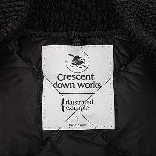 {ie X CRESCENT DOWN WORKS DOWN BOMBER JACKET / OLIVE - 4
