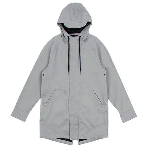 {ie FISHTAIL RAINCOAT GREY / BLACK - 1