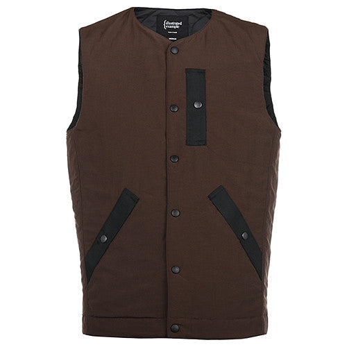 {ie PRIMALOFT UTILITY VEST / BROWN - 3