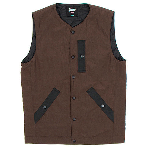 {ie PRIMALOFT UTILITY VEST / BROWN - 1