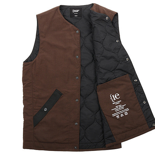 {ie PRIMALOFT UTILITY VEST / BROWN - 2