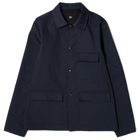 style code 5020CWF17NVY. {ie UTILITY JACKET / NAVY