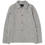 {ie Utility Jacket Beige / Hickory Stripe
