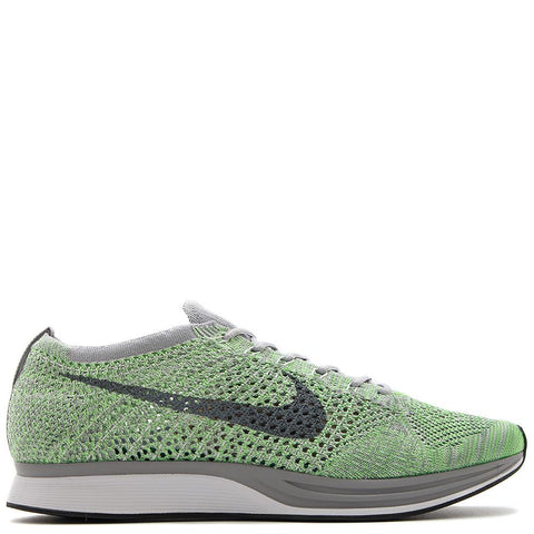 NIKE FLYKNIT RACER WHITE / COOL GREY