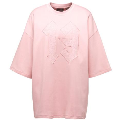 PUMA WOMEN'S FENTY BY RIHANNA OVERSIZED CREW NECK T-SHIRT / PINK TINT