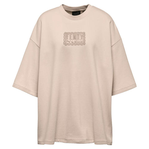 PUMA WOMEN'S FENTY BY RIHANNA OVERSIZED CREW NECK T-SHIRT / CRYSTAL ROSE