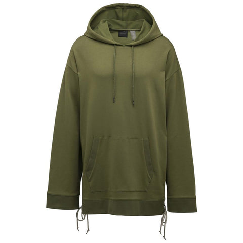 PUMA WOMEN'S FENTY BY RIHANNA HOODY WITH SIDE LACING / OLIVE BRANCH