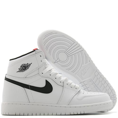 JORDAN 1 RETRO HIGH OG GS WHITE / BLACK - 2