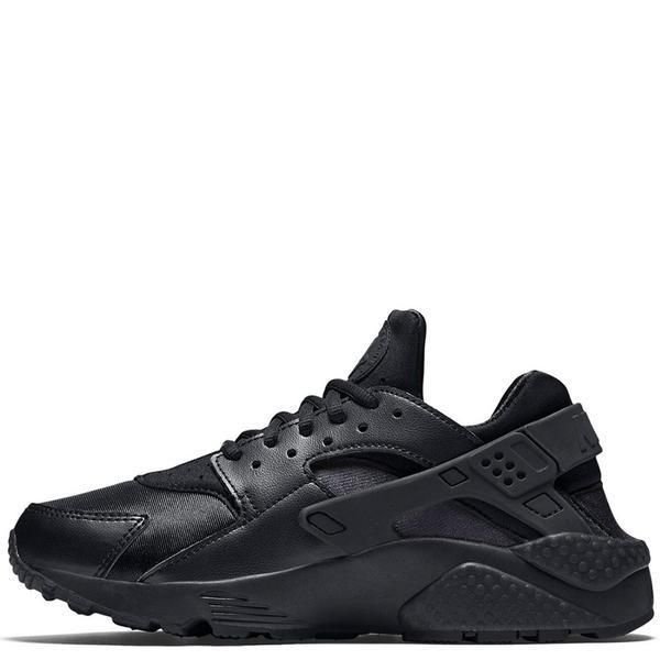NIKE WOMEN'S AIR HUARACHE RUN BLACK / BLACK . style code 634835012
