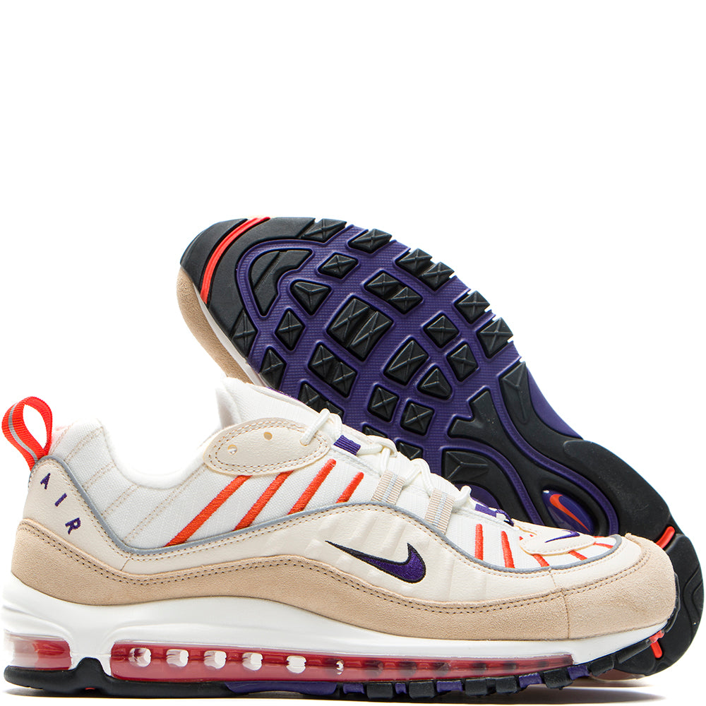 640744-108 Nike Air Max 98 Sail / Court Purple