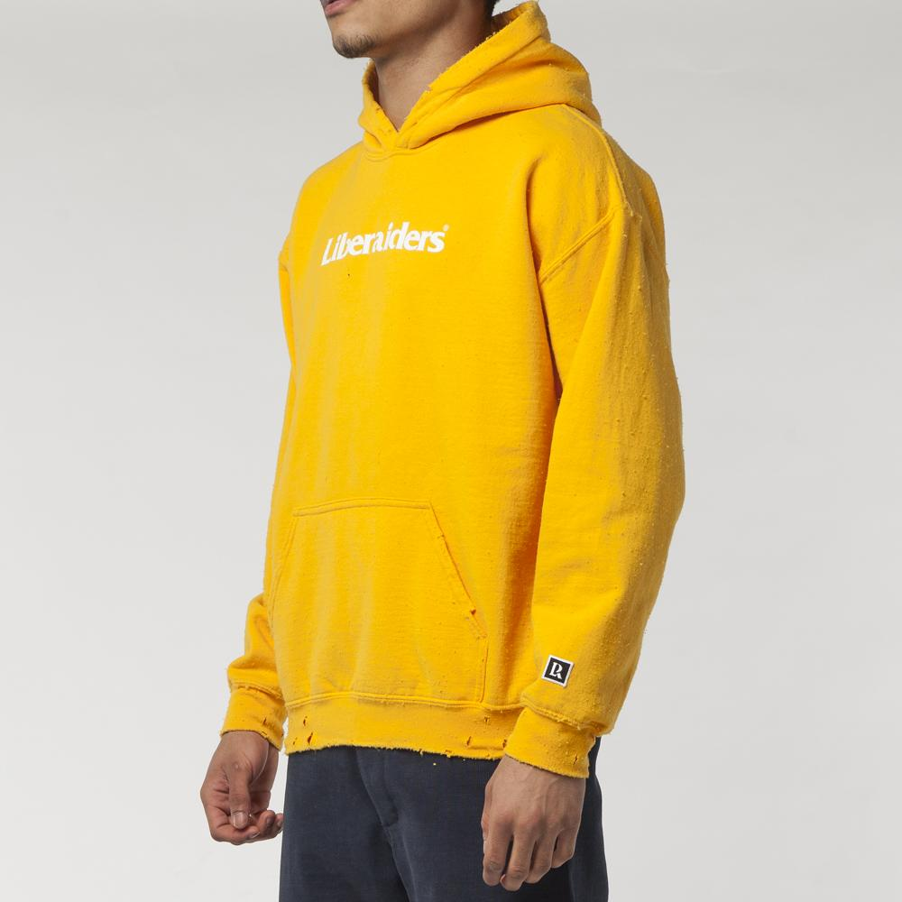 Style code 71302S18. LIBERAIDERS OG LOGO PULLOVER HOODIE / YELLOW